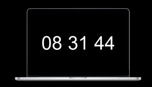 Macでシンプルな時計型スクリーンセイバーなら「Padbury Clock」